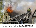 American Firefighter On Fire...