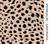 Leopard Pattern On The Beige...