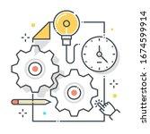 content management related... | Shutterstock .eps vector #1674599914