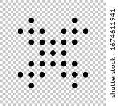 digital dotted close symbol....