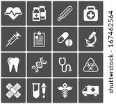 medical icons on black... | Shutterstock .eps vector #167462564