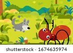 cartoon scene with different... | Shutterstock . vector #1674635974