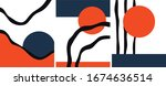 abstract trendy artistic... | Shutterstock .eps vector #1674636514
