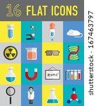 science lab stuff flat icon