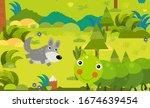 cartoon scene with different... | Shutterstock . vector #1674639454