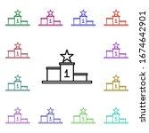 podium multi color style icon....