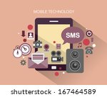 flat design stylish vector... | Shutterstock .eps vector #167464589