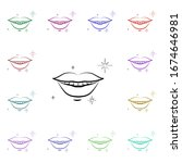 smile  tooth  lips multi color...