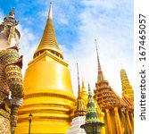 the wat phra kaew  temple of... | Shutterstock . vector #167465057