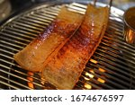 Pig Skin Baked On The Grill