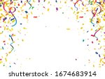 colorful confetti isolated on...   Shutterstock .eps vector #1674683914