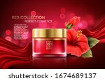 cosmetics products with luxury... | Shutterstock .eps vector #1674689137