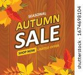 seasonal autumn sale limited... | Shutterstock .eps vector #1674698104