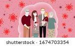 the whole family wearing... | Shutterstock .eps vector #1674703354