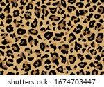 seamless leopard fur pattern.... | Shutterstock .eps vector #1674703447
