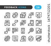 feedback line icons. outline... | Shutterstock .eps vector #1674712201