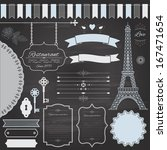 design elements set on retro...   Shutterstock .eps vector #167471654