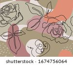 vector seamless pattern with... | Shutterstock .eps vector #1674756064