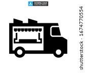food truck icon or logo... | Shutterstock .eps vector #1674770554