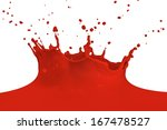 red paint splashing isolated on ... | Shutterstock . vector #167478527