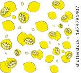 lemon vector background  | Shutterstock .eps vector #1674791407