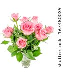 a bunch of pink roses in a... | Shutterstock . vector #167480039