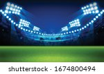football arena field with... | Shutterstock .eps vector #1674800494