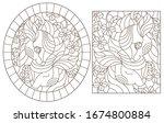 Set Of Contour Illustrations Of ...