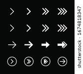 arrow icon collection. arrow... | Shutterstock .eps vector #1674818347