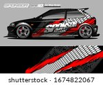 vehicle graphic kit vector....   Shutterstock .eps vector #1674822067