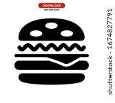 hamburger icon or logo isolated ...   Shutterstock .eps vector #1674827791