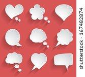 set of white paper speech... | Shutterstock .eps vector #167482874