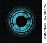 circle  technology wheel modern ... | Shutterstock .eps vector #1674834757