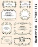 big collection of ornate vector ... | Shutterstock .eps vector #1674854551