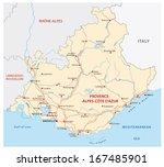provence alpes cote d     azur... | Shutterstock .eps vector #167485901