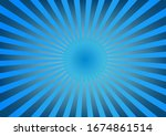 sparkling blue rays in a... | Shutterstock .eps vector #1674861514