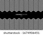 black and white chevron pattern ... | Shutterstock .eps vector #1674906451