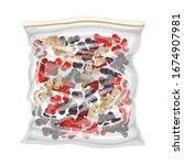 frozen berries stored in... | Shutterstock .eps vector #1674907981