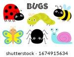 ladybug ladybird  green... | Shutterstock .eps vector #1674915634