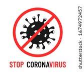 stop coronavirus vector... | Shutterstock .eps vector #1674972457