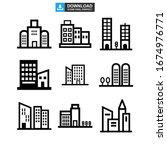 corporate building icon or logo ... | Shutterstock .eps vector #1674976771