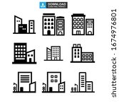 corporate building icon or logo ... | Shutterstock .eps vector #1674976801