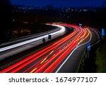 German Autobahn Highway At A...