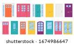 Front Door. Vector. Set House...