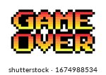 pixel game over text image....