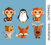adorável,macacos,grande,livros,coloridos,veado,amigável,feliz,leopardo,lindo,mascotes,macaco,pinguim,animal de estimação,brinquedos