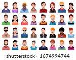 user avatars  avatars with... | Shutterstock .eps vector #1674994744