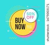 sale banner template design in...   Shutterstock .eps vector #1675003171