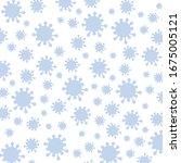 virus pattern background ... | Shutterstock .eps vector #1675005121
