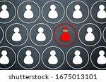social distance concept. social ... | Shutterstock . vector #1675013101